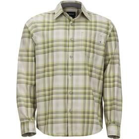 Marmot Zephyr Miehet Pitkähihainen paita , beige/vihreä
